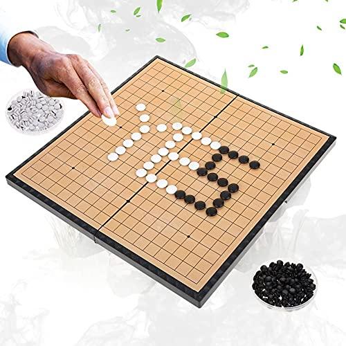 Dioche Juego de Mesa Go, Juego de Juego para 2 Jugadores Tablero Plegable Magnético Weiqi Educational Games para Niños...