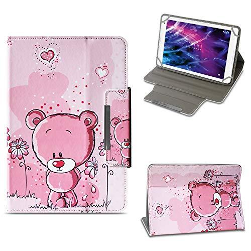 NAUC Tablet Tasche für Medion Lifetab P10603 P10606 P10602 X10605 X10607 X10311 X10302 X10301 P10400 P10506 Hülle Schutzhülle Case Cover Stand, Farben:Motiv 1