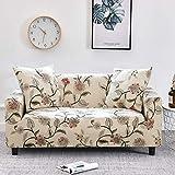 ASCV Funda de sofá elástica a Cuadros Fundas de sofá elásticas para Sala de Estar Funda para Silla de sofá Funda para sofá Fundas sofás Chaise Longue A8 2 plazas