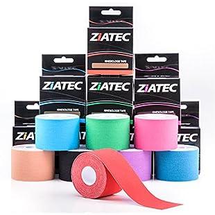 Ziatec Pro, kinesiology tape, 6 x Mix-6 (6 rolls 5.0 cm):Greatestmixtapes