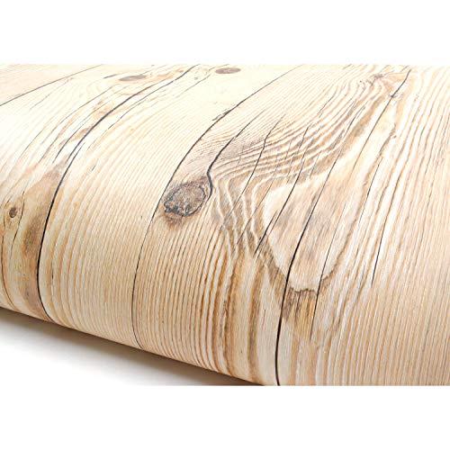 Vintage Brown Panel de madera patrón Papel autoadhesivo peel-stick - Papel pintado