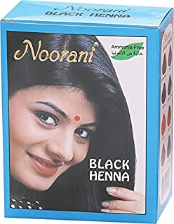 Noorani Henna Based Hair Color and Herbal Powder in USA | Ships from California (3 (18 Pouch x 10g), BLACK HENNA)