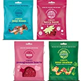 Biona Organic Pack de 4: Gominolas Sabor Explosión de Bayas 75g, Gominolas Dinosaurio Agrio 75g, Gominolas Sabor Granada Orgánico 75g, Gominolas Serpientes Agrios 75g (Cada uno de 1)