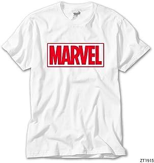 Marvel Logo Beyaz Tişört