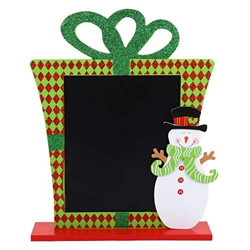 Wakauto Pizarra de Navidad con Muñeco de Nieve Pizarra de Madera Tablero de Mensajes Tablero de Escritura Decoración de Mesa de Navidad Suministros para Fiestas