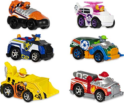 PAW Patrol True Metal Classic Gift Pack of 6 Collectible Die-Cast Vehicles, 1:55 Scale