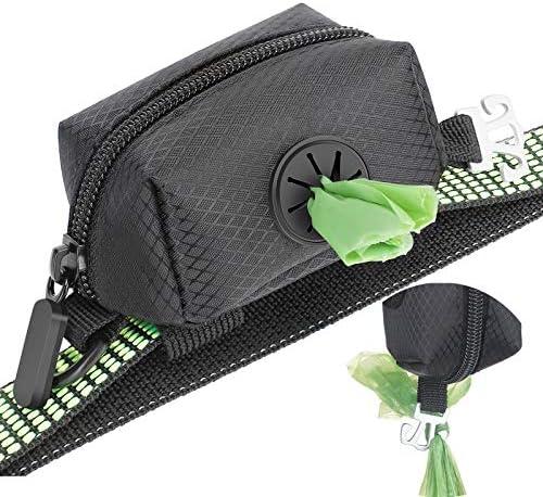 MalsiPree Dog Poop Bag Dispenser with Used Waste Bag Holder Carrier Improved Elastic Strap Metal product image