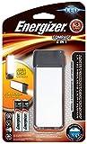 Energizer LED Compact 2 en 1 lampara y Linterna, 60 LM, Resistente al Agua, Pilas Incluidas, Negro, 11.6 x 4.3 x 1.8 cm