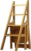 Familie opstapkrukje, Stepladder 4 converteer ladder vouwen achter stoel stoel fauteuil ladder bamboe stoel stap ladder tr...