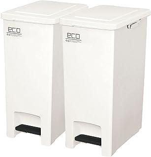 【2個セット】アスベル ゴミ箱 エバンペダルペール 45L SD (ホワイト)