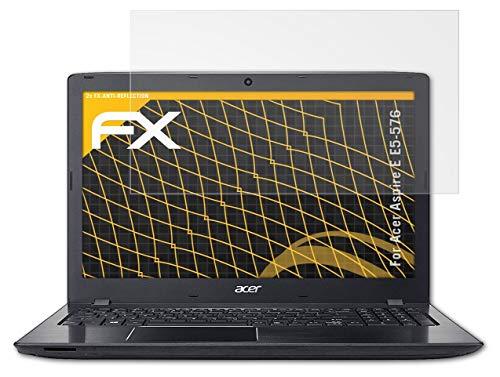 atFolix Panzerfolie kompatibel mit Acer Aspire E E5-576 Schutzfolie, entspiegelnde & stoßdämpfende FX Folie (2X)