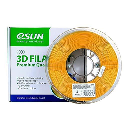 eSun Filamento PETG para impresora 3D, 1,75 mm, 1 kg, color dorado