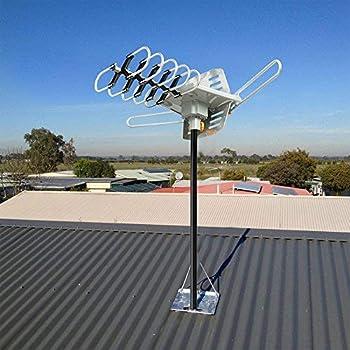 Vansky Outdoor TV Antenna 150 Mile Range Digital Amplified HDTV Antenna 360 Degree Rotation for 2 TVs Support - High ...