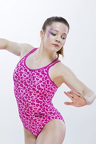 Wildkatzen Gymnastik Leotard Pink Leopard Kunstdruck Quatro, Pink Leopard Print