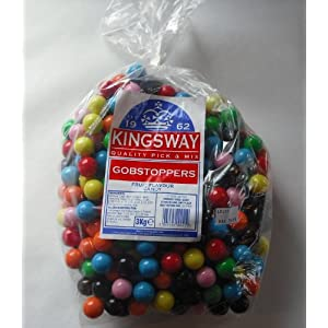 kingsway gobstoppers fruit flavour candy 1 x 3kg bag Kingsway Gobstoppers Fruit Flavour Candy 1 x 3kg bag 518ZoSWSkpL