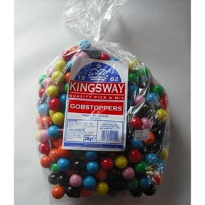 kingsway gobstoppers fruit flavour candy 1 x 3kg bag Kingsway Gobstoppers Fruit Flavour Candy 1 x 3kg bag 518ZoSWSkpL