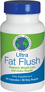Ultra Fat Flush | All Natural Dietary Supplement Cleanses and Supports Thermogenic Weight Loss & Colon Health | Plant-Based Formula |Increase Energy Levels & Flush Fat | 30 Day Supply
