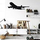 T-YIFUZX Calcomanías de Pared de avión realistas calcomanías de Pared de Vinilo de avión extraíbles utilizadas para la decoración de la Sala y la Sala de Estar de los niños de la Familia 76x30CM