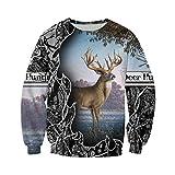 Vieryyes Camo Amo Chasser Art Deer 3D Sweats à Capuche à Capuche Homme Femme Sweat à Capuche Manches Longues Pull Casual Sweatshirt XXXL