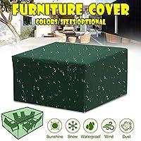 ファニチャーカバー 屋外 防水 210Dオックスフォード防水長方形屋外カバー、破れにくい、屋外のダイニングテーブルと椅子用,150x150x70cm