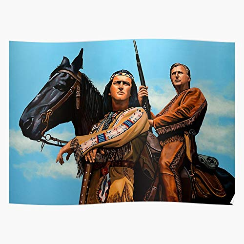UnisylBoutique Paul Winnetou Meijering Brice Movie Old Karl May Pierre Shatterhand German Home Decor Wandkunst drucken Poster !