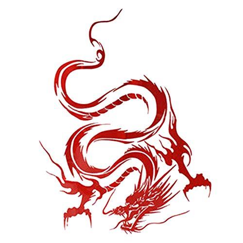 Merssavo Karosserie Drachen Muster Aufkleber, Universal Pack Kühle Stoßstange Aufkleber Wasserdichte Grafik Aufkleber für Motorrad Fahrrad Gepäck Graffiti Patches, 4#