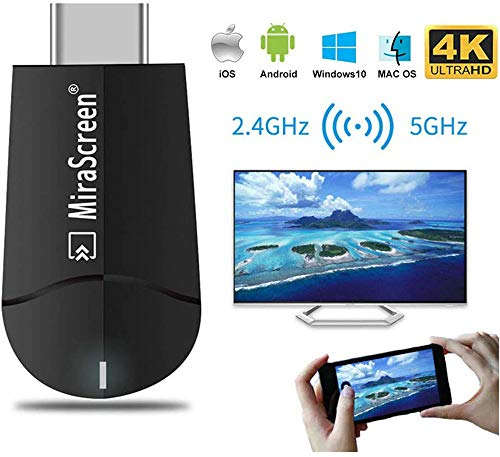 4K Wireless HDMI Display Adapter, MiraScreen K6 5G WiFi Display Dongle HDMI Streaming Stick für iOS / Windows / Android zu TV / Projektor / Display Unterstützung DLNA Miracast Airplay