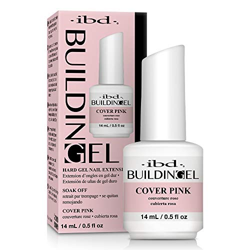 IBD Building Gel, Hard Gel Nail Extension, Cover Pink, 0.5 oz