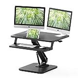 ZHU CHUANG Stand Up Desk Standing Desk Converter Gas Spring Sit Stand Desk Workstation Sit to Stand Desk Riser (Black 2)