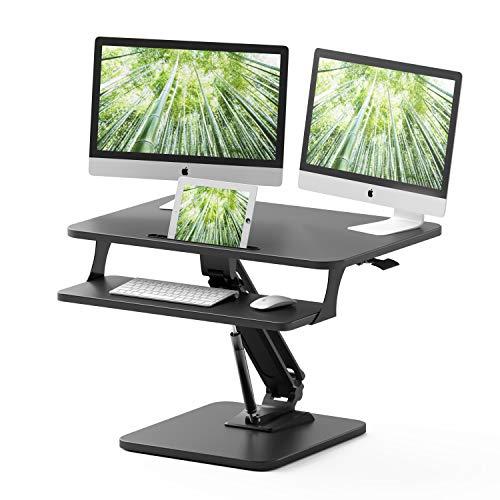 ZHU CHUANG Standing Desk Height Adjustable Sit Stand Desk Converter Stand Up Desk Riser Ergonomic...