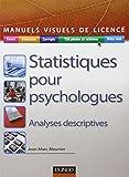 Statistiques pour psychologues - Analyses descriptives