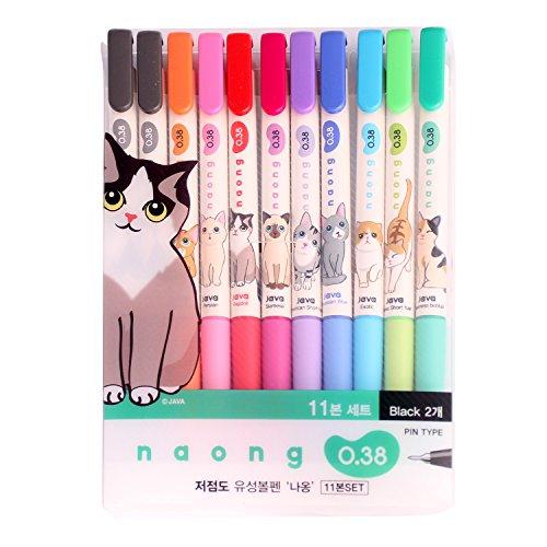 Beecrazee PE 6668 Naong 11-Set Ballpoint Pens, Multicolor