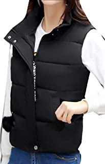 Jaycargogo Mens Down Vest Zipper Sleeveless Jacket Packable Outwear Vest