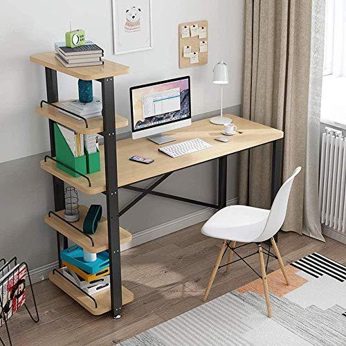 Computer Bureau Hout Pc Tafel Computer Tafels met Plank Moderne Bureau Meubels Vrije tijd Tafel Thuis Bureau Bureau - Geen Stoel-110cm