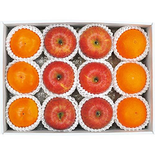 お歳暮 ギフト 果物 フルーツ 人気商品 冬の旬の果物詰合せ (リンゴ 柿)