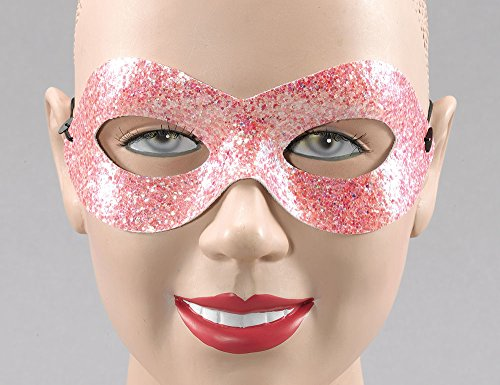 Pink Glitter Domino Eye Mask(S)