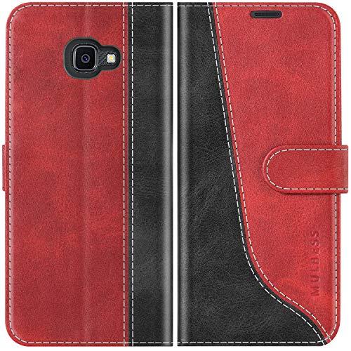 Mulbess Handyhülle für Samsung Galaxy XCover 4s Hülle Leder, Samsung Galaxy XCover 4s Handy Hüllen, Modisch Flip Handytasche Schutzhülle für Samsung Galaxy XCover 4 / 4s, Wine Rot
