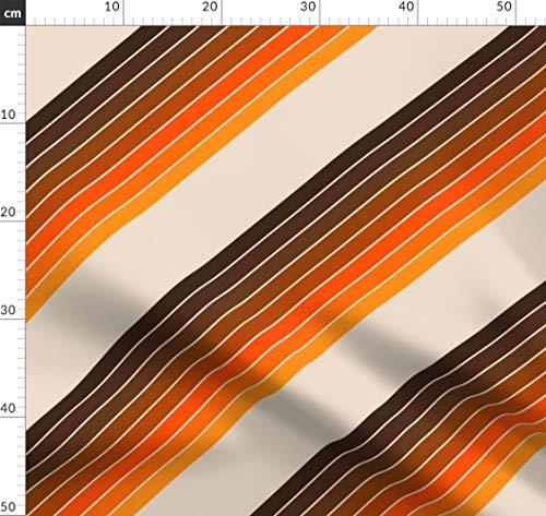 retro, 70er Jahre, modern, siebziger Jahre, Wüste Stoffe - Individuell Bedruckt von Spoonflower - Design von Circa78designs Gedruckt auf Bio Musselin