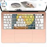 igsticker MacBook Air 13inch 2018 専用 キーボード用スキンシール キートップ ステッカー A1932 Apple マックブック エア ノートパソコン アクセサリー 保護 015850 月見 十五夜 うさぎ