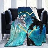 FT FENTENG Rustic Fleece Bed Blankets, Train Dragon Toothless Light Fury Love Heart Personalized Throw Blankets, Anti-Static Ultra Cozy 80s 90s Blanket Fit Girls Outdoor Kindergarten