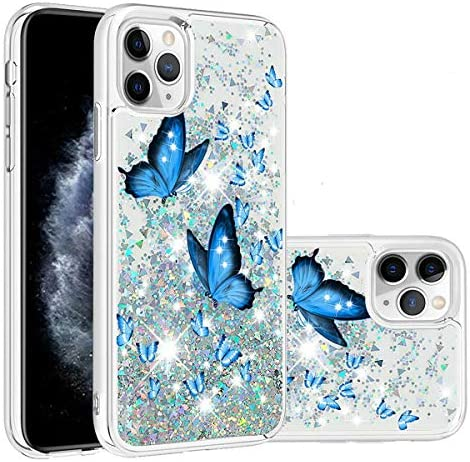 Topwin Liquid Floating Butterfly Case for iPhone 11 Quicksand Flowing Moving Bling Glitter Sparkle product image