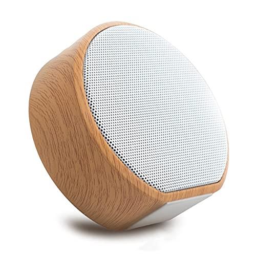 SCYMYBH Altavoz Bluetooth Mini Tarjeta Subwoofer Wood Grain Wireless Portable Coche Al Aire Libre Teléfono Móvil Audio (Color : Silver Grey)