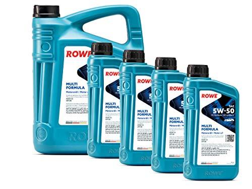 9 (5L+4L) Liter ROWE HIGHTEC MULTI FORMULA SAE 5W-50 Motoröl Made in Germany