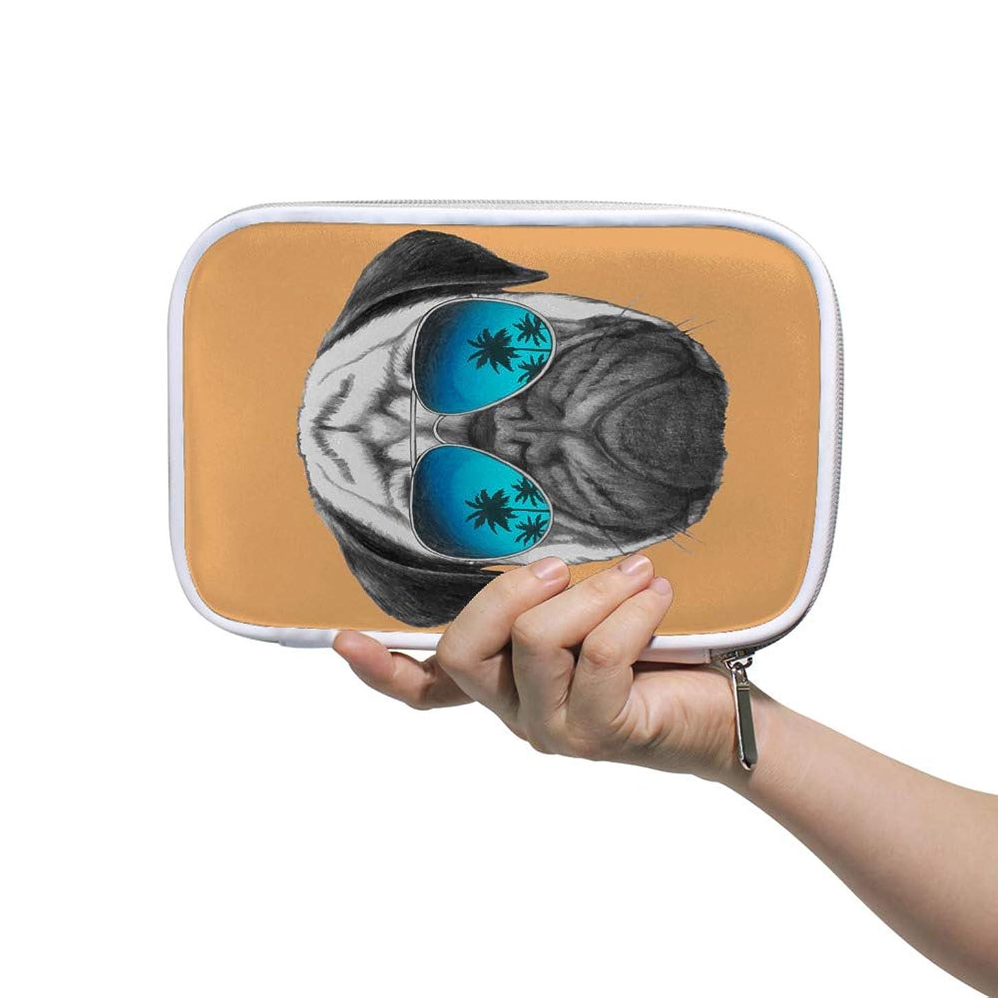 確立肉シールドZHIMI 化粧ポーチ メイクポーチ レディース コンパクト 化粧品収納バッグ 防水 柔らかい おしゃれ コスメケース 可愛い ワンちゃん 犬柄 機能的 軽量 小物入れ 出張 海外旅行グッズ パスポートケースとしても適用