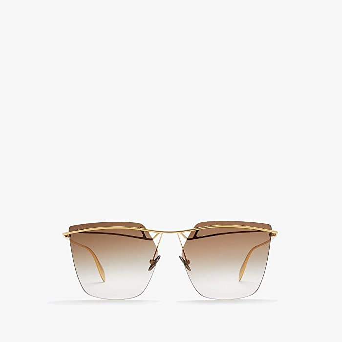 Alexander McQueen  AM0144S (Gold) Fashion Sunglasses
