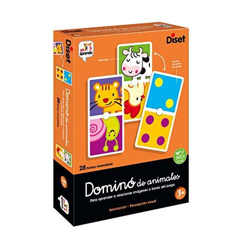 Diset- Dominó Animales Juego Educativo para Niños, Multicolor (68956)