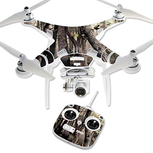 MightySkins Skin Compatible with DJI Phantom 3 Standard Quadcopter Drone wrap Cover Sticker Skins Tree Camo