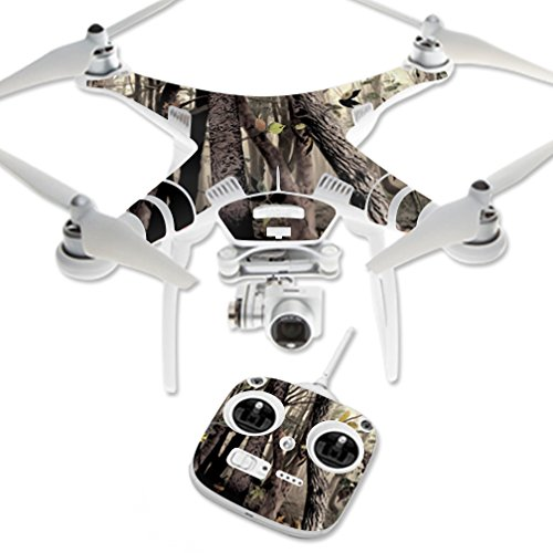 MightySkins Skin Compatible with DJI Phantom 3 Standard Quadcopter Drone wrap Cover Sticker Skins Tree Camo