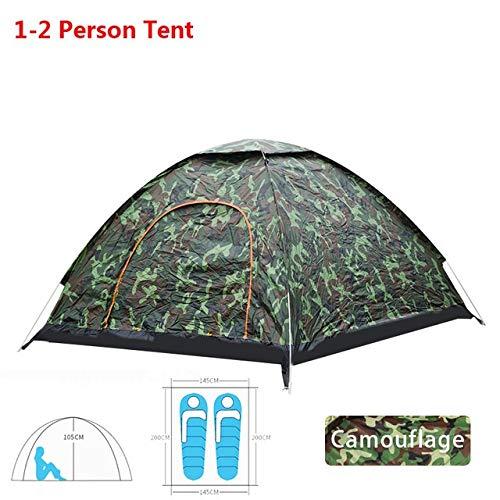Tent HDS Automatique Pop Up Camping Randonnée 1 2 3 4 Personne Plusieurs modèles d'extérieur Famille Easy Open Camp Ultraléger instantané Ombre (Color : Camouflage1 2 Man)