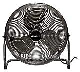 Schallen Gunmetal Grey Black Metal High Velocity Cold Air Circulator Adjustable Floor Fan
